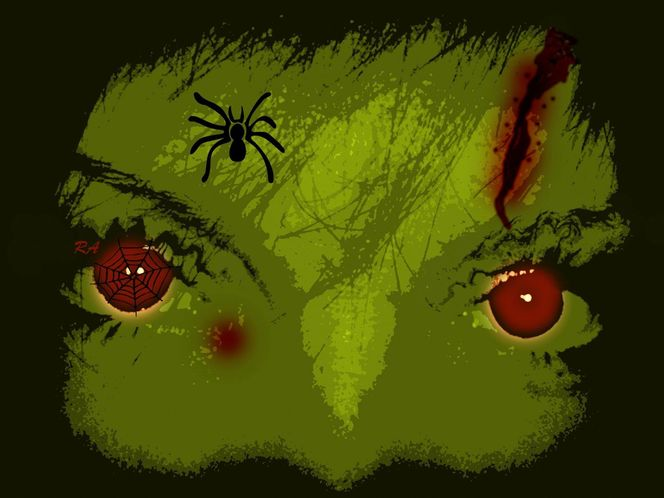 Halloween, Angst, Sauer, Spinne, Spinnennetz, Mixed