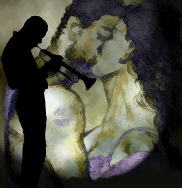 Leidenschaft, Schatten, Love song, Postkarten motiv bearbeitet, Sehnsucht, Lila