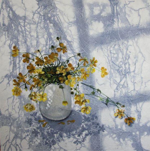 Blumenstrauß, Schatten, Licht, Acrylmalerei, Blumen, Malerei