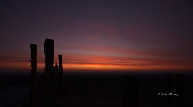 Prosper haniel, Holzfeiler, Sonnenaufgang, Halde, Himmel, Fotografie