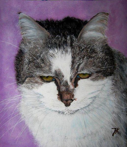 Tiger, Kater, Katze, Malerei, Tiere