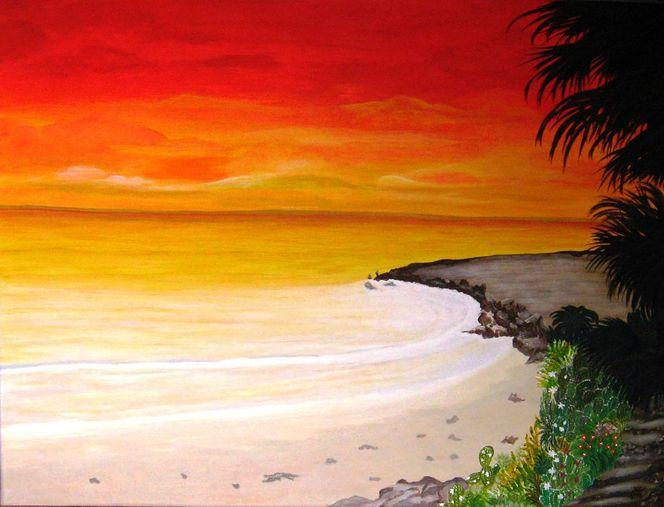 Traumlandschaft, Malerei, Landschaften