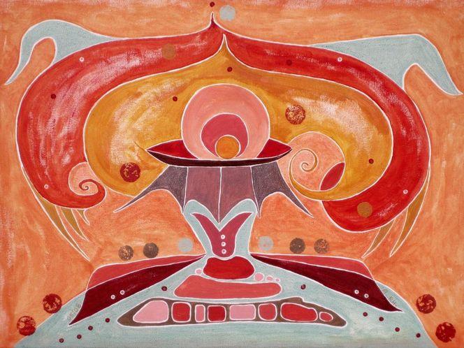 Rot, Abstrakte malerei, Meditation, Lila, Abstrakt, Abstrakte kunst