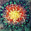 Grün, Abstrakte malerei, Blüte, Leuchtend