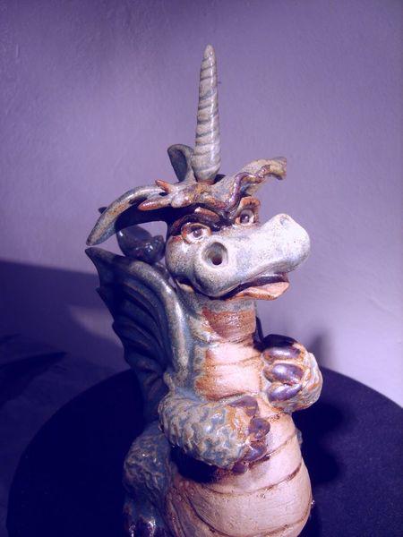 Steinzeug, Ölmalerei, Comic, Glasur, Lampe, Kunsthandwerk
