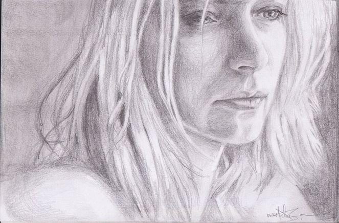 Menschen, Portrait, Bleistiftzeichnung, Malerei