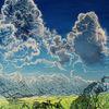 Wolkenfront, Sommer, Alpen, Wolkenformation