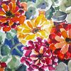 Blumen, Aster, Aquarellmalerei, Malerei