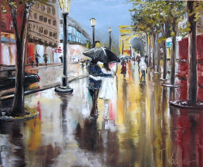 Paris, Licht, Moderne klassik, Straße, Abend, Paar