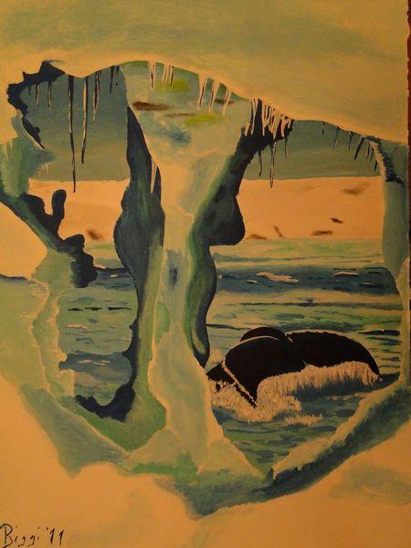 Alaska, Wal, Beringsee, Schnee, Meer, Eis