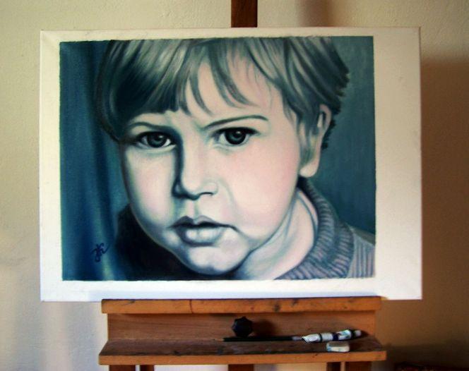 Kind, Menschen, Portrait, Mann, Malerei, Kinderportrait