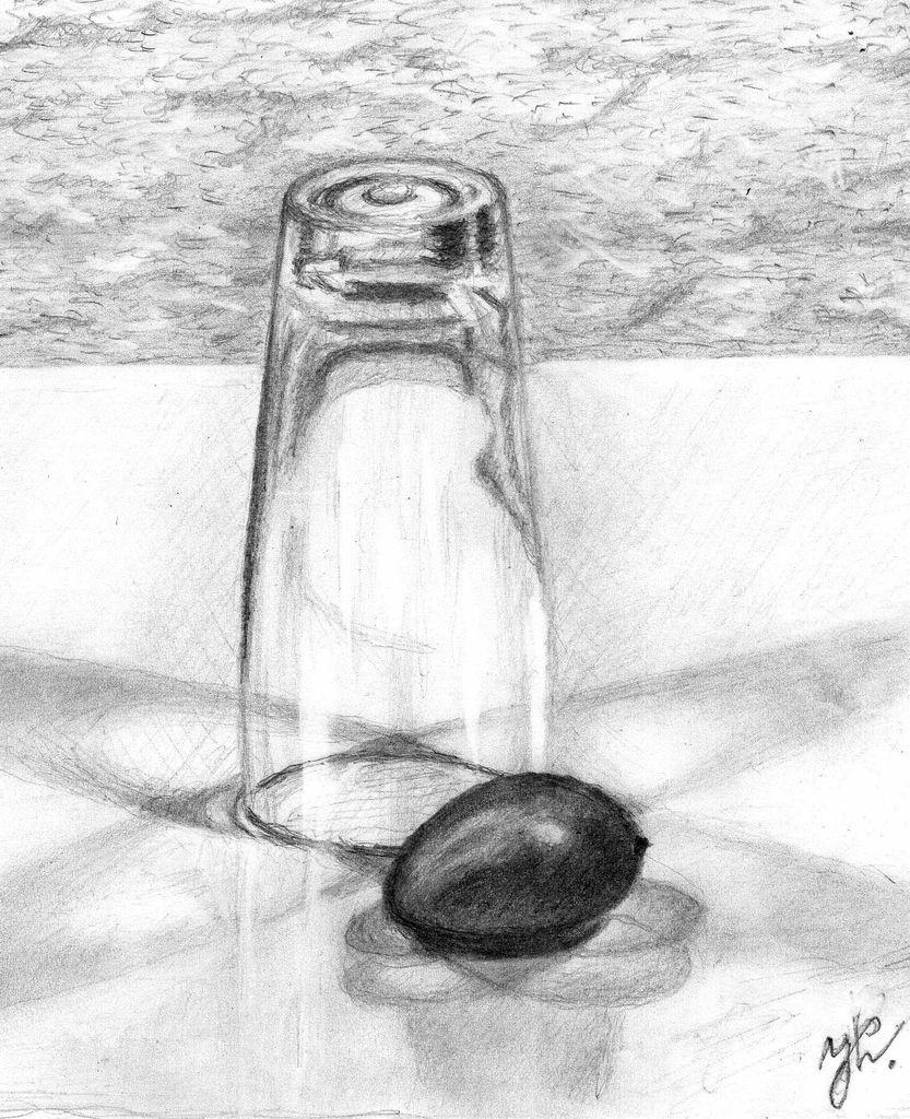 bild glass licht zeichnungen stillleben von josefmusa bei kunstnet. Black Bedroom Furniture Sets. Home Design Ideas