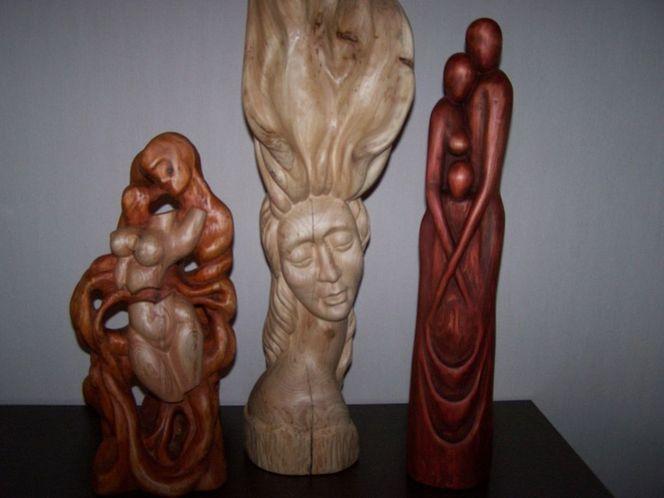 Skulptur, Holz skulpture, Kunsthandwerk, Holz