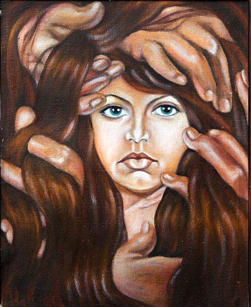 Frau, Hände, Malerei, Menschen, Kraft, Geduld