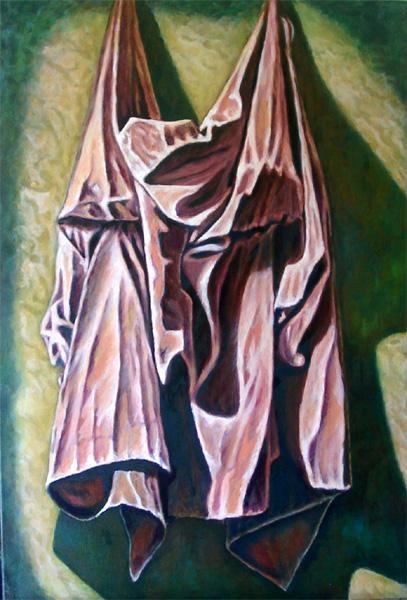 Studie, Garderobe, Realismus, Figural, Licht, Ölmalerei