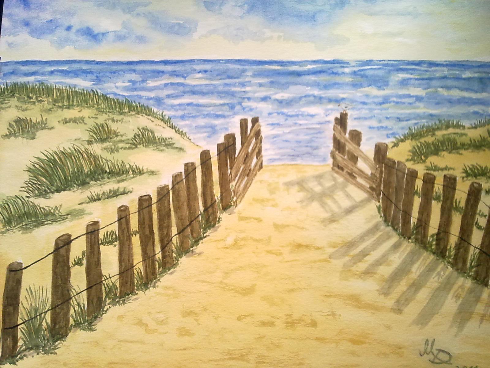Weg zum Strand - Bild / Kunst von Manfred Dirks bei KunstNet