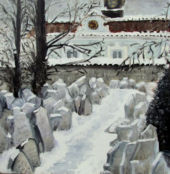 Winter, Prag, Art coach international, Schnee, Friedhof, Malerei