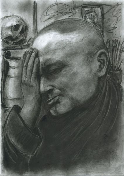 Portrait, Besinnlich, Denker, Muse, Malerei