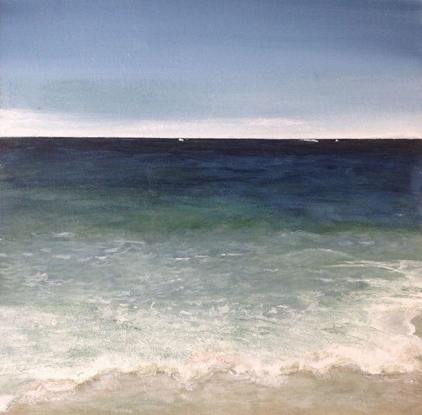Strand, Urlaub, Meer, Welle, Malerei