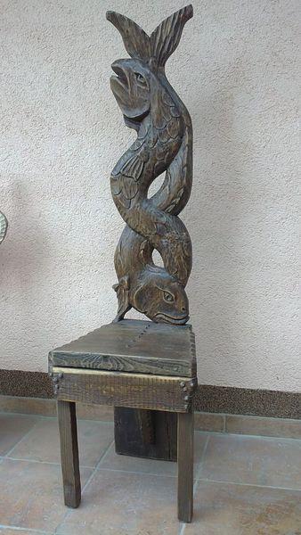 Stuhl, Designstuhl, Holzstuhle, Designmöbel, Antike, Schnitzkunst