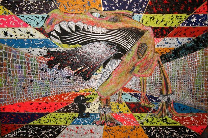 Arzt, Zuviele farben, Spritze, Dinosaurier, Kette, Gefängnis