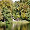 Haus, See, Wald, Herbst