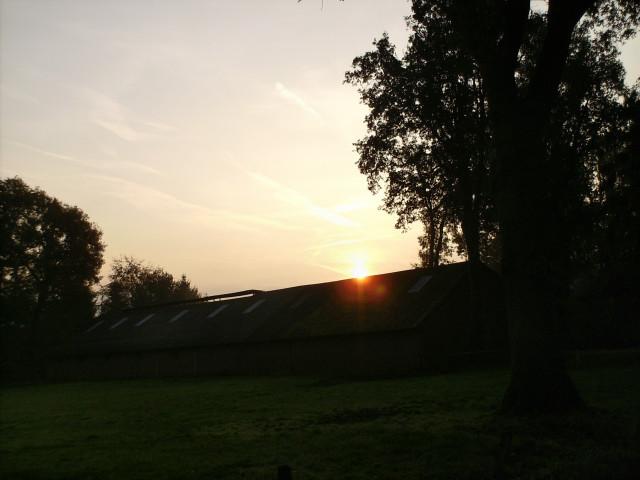Herbstmorgen, Fotografie, Haus, Sonnenaufgang