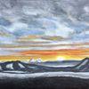 Abstrakt, Sonnenuntergang, Wolken, Nebel