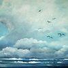 Himmel, Blau, Weite, Wolken