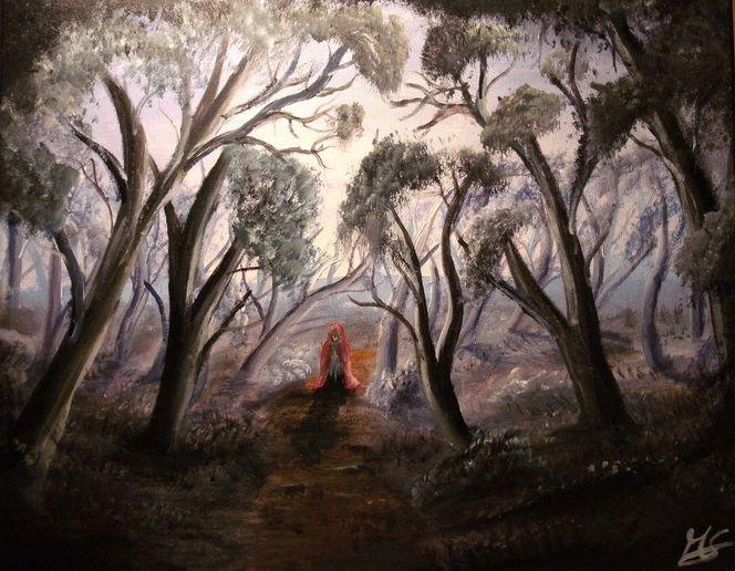 Baum, Landschaft, Acrylmalerei, Wald, Malerei