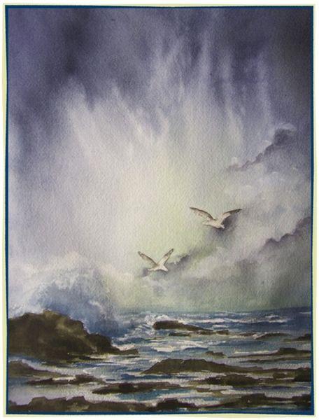 Licht, Welle, Küste, Brandung, Himmel, Meer