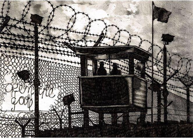 Schwarz weiß, Stillleben, Guantanamo, Zeichnungen