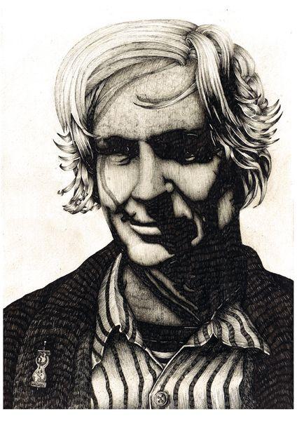 Portrait, Assange, Wikileaks, Zeichnungen,