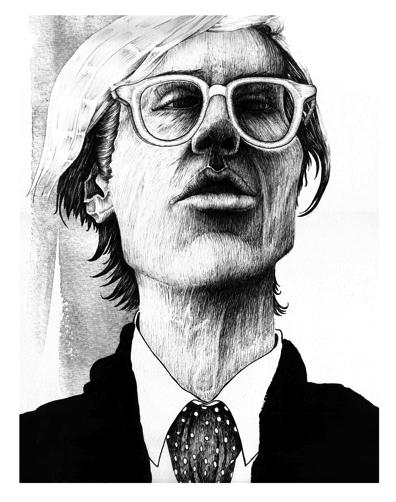 Menschen, Warhol, Stillleben, Weiß, Portrait, Zeichnungen