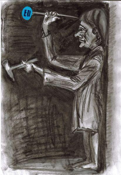 Weber, Nach p, Karikatur, Eu, Zeichnungen
