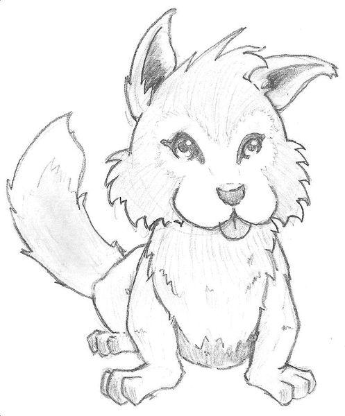 Wolf comic bleistift, Zeichnungen, Tiere, Wolf