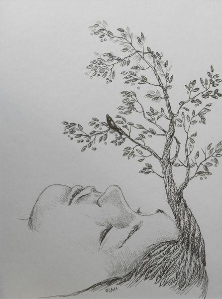 Gesicht, Vogel, Zeichnungen, Surreal