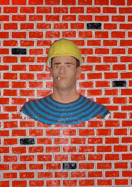 Gerüstbauer, 3d, Portrait, Malerei