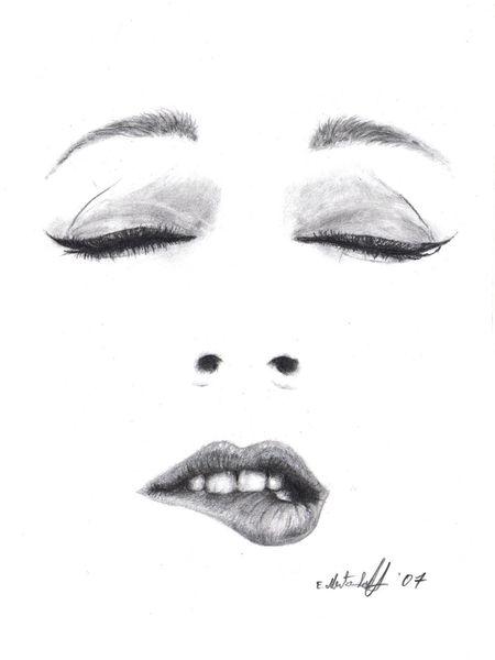 Frau, Schwarz weiß, Portrait, Bleistiftzeichnung, Malerei