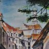 Altstadt, Malerei, Augsburg, Aquarellmalerei