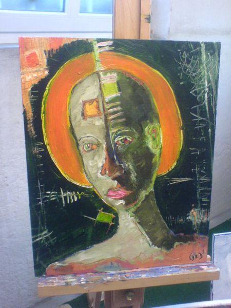 Gesicht, Licht, Malerei, Portrait