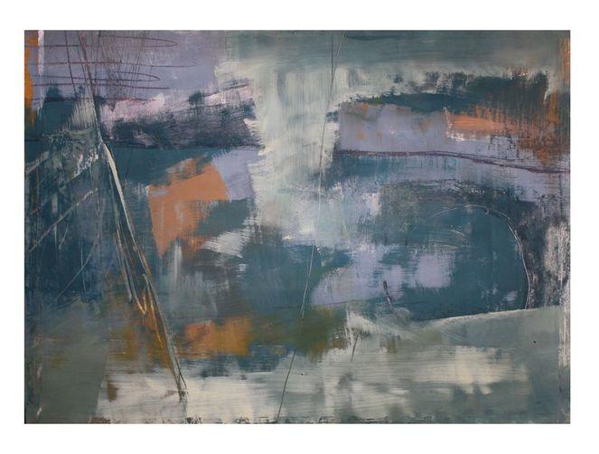 Abstrakt, Malerei, Grau