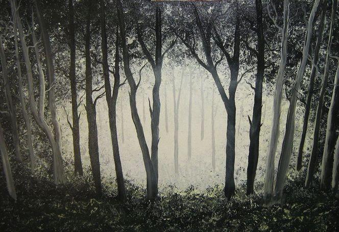 Wald, Sonnenlicht, Mystik, Schatten, Licht, Malerei