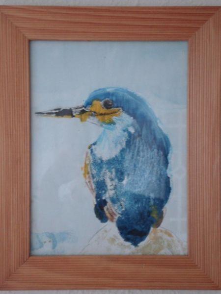 Eisvogel, Pastellmalerei, Aquarellmalerei, Aquarell