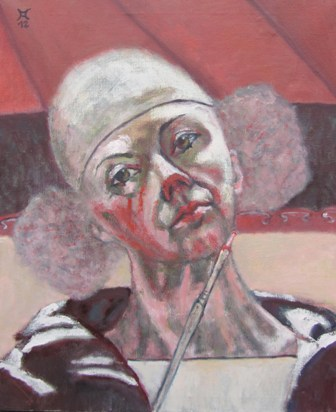 Malerei, Portrait, Clown