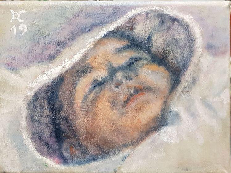Baby, Mütze, Schlaf, Malerei