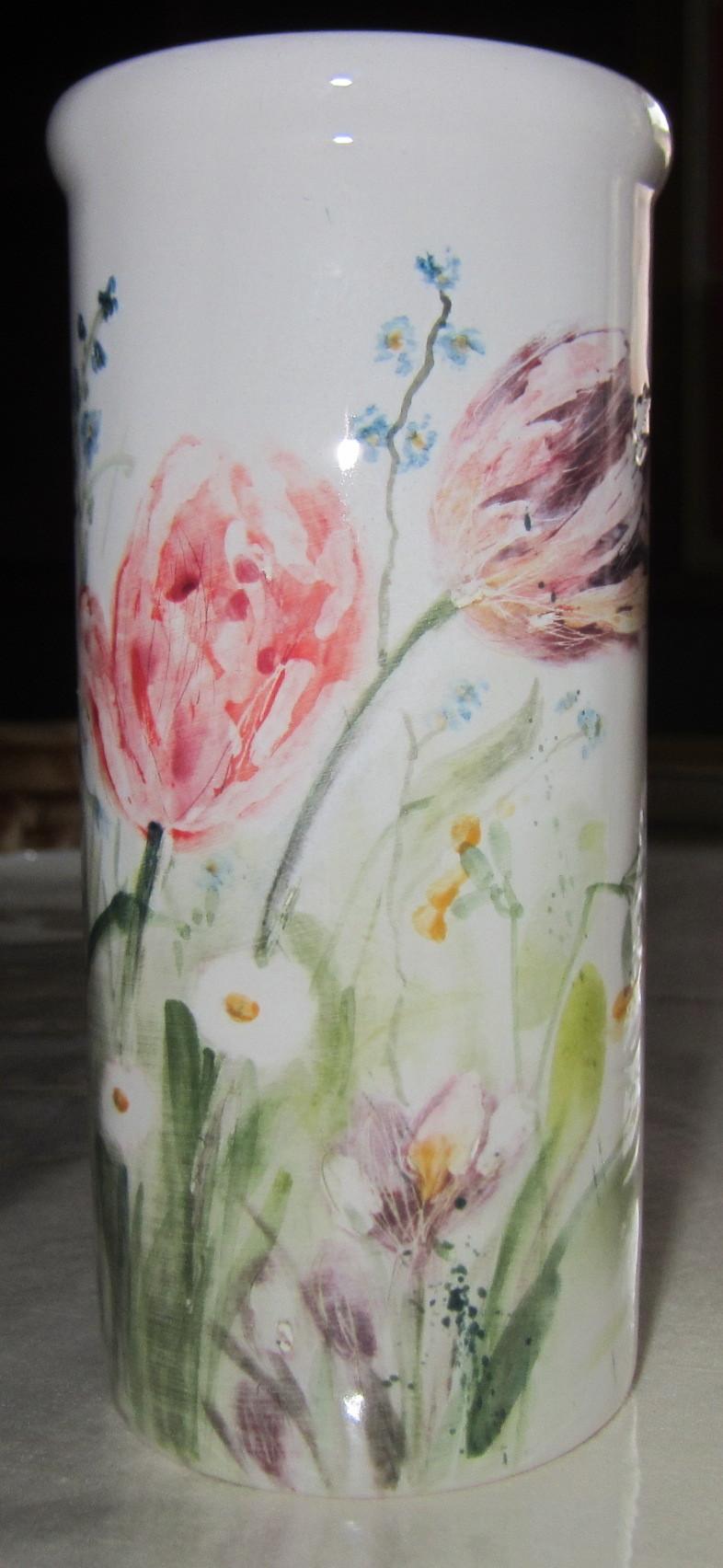 bild keramik vase tulpen fr hling von margarethe meixner bei kunstnet. Black Bedroom Furniture Sets. Home Design Ideas