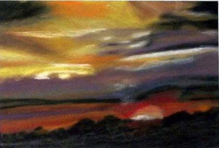Natur landschaft, Malerei, Abend