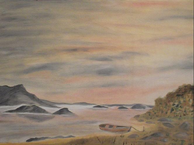 Küstenstraße, Wasser, Mallaig, Schottland, Meer, Malerei