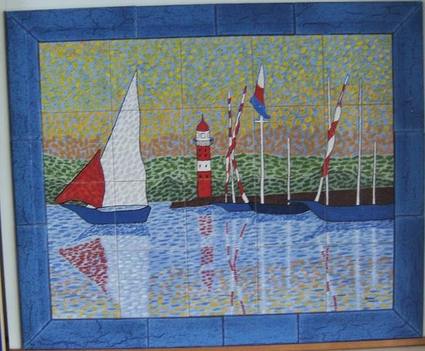 Segler, Sturm, Stilkachel, Hafen, Seefahrt, Gemälde